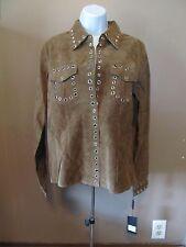 Brandon Thomas Womens Light Brown Leather/Suede Jacket/Blazer~Size Small~NWT!!