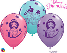 "Aladdins Disney Princess Jasmine Printed Assorted Girls 11"" Latex Balloons 6pk"