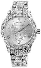 Excellanc Damenuhr Silber Strass Römisch Analog Metall Armbanduhr X-1800122-002
