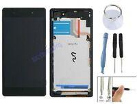 ECRAN LCD + VITRE TACTILE SUR CHASSIS POUR SONY XPERIA Z2 D6502 D6503 L50 NOIR