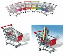 4x Stainless Steel Mini Wire Shopping Utility Trolley Office Presentation Basket