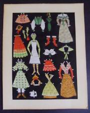 Fabric Paperdoll doll Antique Vintage cut-out clothes accessories