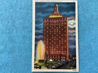Hotel Claridge at Night, Atlantic City New Jersey Vintage Postcard