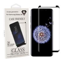 Samsung Galaxy S9 Screen Protector Case Friendly 3D Curved Tempered Glass Black