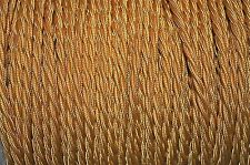 1 meter Celtic gold twisted vintage lamp cable flex wire 3 core Anglepoise T2