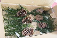 Long Needle Pine Stem Floral Decoration Artificial Lot of 6