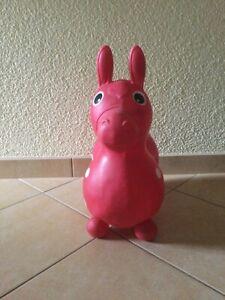 Rot Pferd Esel Hüpfer Rutscher Prellen Aufblasbar Wippen