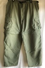 REI Mens Solid Olive Green Pants Shorts Hiking Camping XL