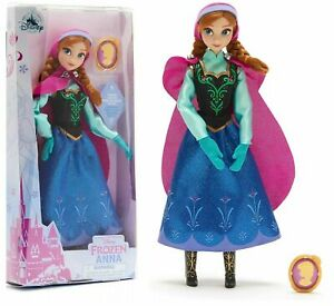 New Disney Store Frozen Anna Classic Doll With Pendant