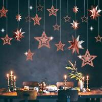 Stars Hanging Paper Garlands Wedding/Party/Birthday/Baby Shower Table Decor Sale