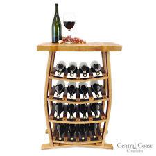 16 Bottle Wine Barrel Stave Wine Rack Holder Rustic Furniture Solid Oak Handmade