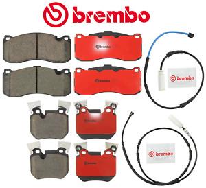 Front Brake Pads Rear Brake Pads Set Ceramic OEM Brembo + Sensor BMW 135i 11-13