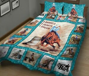 Barrel Racing Quilt Bed Set