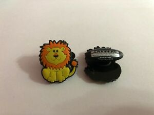 Yellow Lion Shoe-Doodle goes in holes of Rubber Shoes or Crocs Shoe Charm PS1002