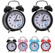 Vintage Loud Double Bell Mechanical Quartz Keywound Alarm Clock Bedside