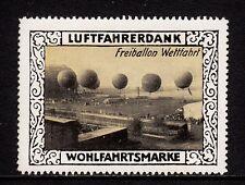 400648/ Reklamemarke - Luftfahrerdank - Freiballon Wettfahrt
