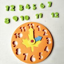 1x enfants DIY horloge apprentissage de l'éducation jouets Jigsaw Puzzle Game_Y