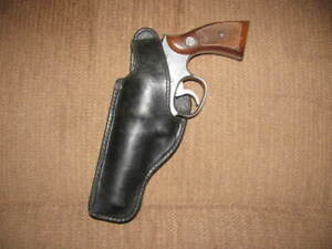 "Hume Lined Holster S&W K Frame 10 12 13 64 66 19 65 4"" LEFT GC 210320"