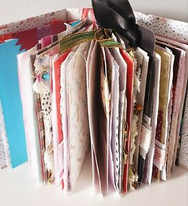 handmade junk journal, diary, planner A6 size with tags, pockets and ephemera