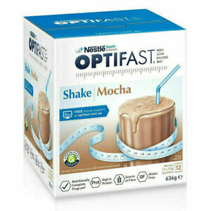Optifast Mocha Shakes 12x53g Sachets Low Calorie Diet for Weight Loss