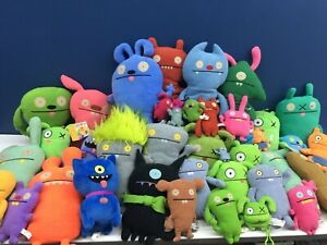Lot of 39 Ugly Dolls Monster Plush Doll Toys Stuffed Animals Used Green Pink Blu