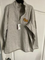 NWT Antigua Golf 2XL University Of Pittsburgh NCAA 1/3 Zip Pullover