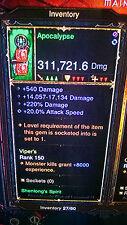 Diablo 3 puce poing arme, fou de dommages patch 2.4 pour XBOX ONE, maison objet