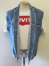 "VINTAGE Retro Grunge Levi's Red Tab Men's Denim Gilet Size M 38-40"" Euro 48-50"