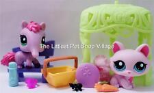 LITTLEST PET SHOP ☀ ANTEATER #2618 ☀ KITTY CAT #2619 ☀ NIP ☀ LUNCHTIME FUN