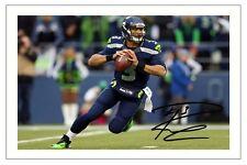 Russell wilson Seattle Seahawks signé photo autographe Print NFL football