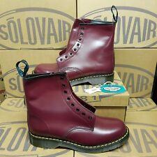 SOLOVAIR 8 Eye Derby Men's Boots Cherry Red UK 11 EUR 45 (pv:160£)