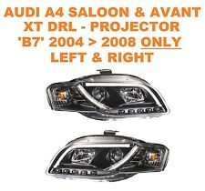 Audi A4 Avant DRL XT-R Black Projector Headlights 05   08 B7 Models ONLY