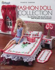 Fashion Doll Collection ~ fits Barbie dolls, plastic canvas pattern book NEW