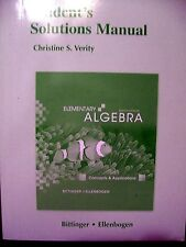 Elementary Algebra : Concepts and Applications Student's Solutions Manual (Pbk)