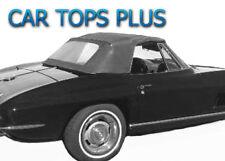 "1963-67 Corvette Convertible Top & Plastic Window, ""Robbins"" Black Vinyl"