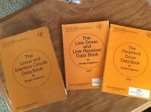 TEXAS INSTRUMENTS LINEAR INTERFACE, LINE DRIVER/RECEIVER & PERIPHERAL DATA BOOKS