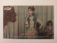 "PULP ""Party Hard"" original magazine Trade Press Advert A4 Size"