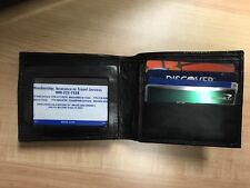 Men's Bifold Wallet Slim Purse Genuine Leather Black Credit/ID Card Holder