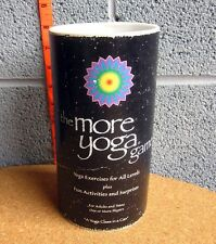 MORE YOGA GAME card activities in can 2001 kit w/ chakra scroll & jewels