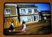 Authentic City Scene Koreans, Korean War Slide 1953 From Soldiers 35MM Slide Cam