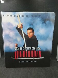 The Complete Highlander Trading Card Binder Album with Pages Rittenhouse