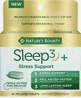 Nature's Bounty Sleep3 + Stress Support TRIPLE ACTION Supplement - 56 Tablets
