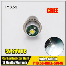 1X CREE LED p13.5s 5W Recessed Screw p13.5s LED 5v-24v Base Led Flashlight Bulb