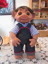 "GIANT HENRY (Blue Striped Shirt) w/ TAG - 17"" Dam Troll Doll - NEW"