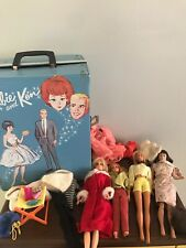Vintage Barbie case for including Midge, 2 Barbies, Skipper All From 60's-70'