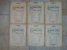Set of 10 Vintage Sheet Music: Charming Songs by Favorite Authors - Large Format