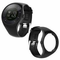 Schwarz Ersatz Silikon Armband Uhrenarmband Bracelet für Polar M200 GPS Watch