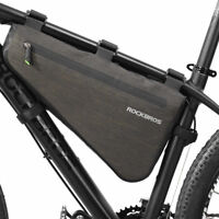 RockBros Waterproof Bike Bag Triangle Large Cycling Tube Frame Bag 8L Black Gold