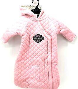 Harley-Davidson Baby Girls B/&S Fleece Lined Hooded Infant Jacket Black 6514009