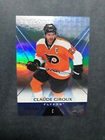 2016-17 UD Trilogy Blue Spectrum #33 Claude Giroux 598/999 Philadelphia Flyers
